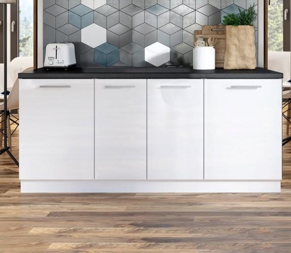 Kuchynská protilinka Emilia 200 cm (biela)