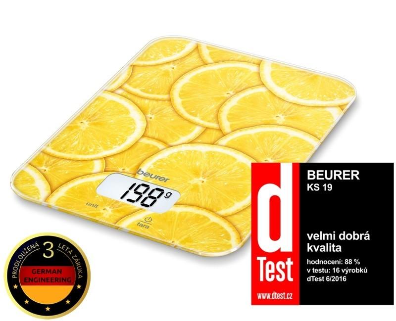Kuchynská váha Kuchyňská váha BEURER KS 19 LEMON