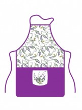 Kuchynská zástera s vreckom Banquet Lavender, fialová