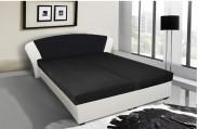 Kula - posteľ (biela, čierna mura 100)