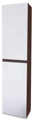Kúpeľne ZLACNENÉ Luis - Závěsná skříňka vysoká SD 64 (bílá lesk/wenge)