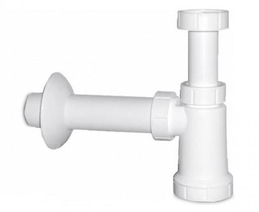 Kúpeľne ZLACNENÉ Umyvadlový sifon (biely plast)