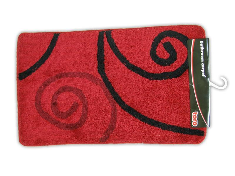 Kúpeľňová predložka, 50x80 cm (červená/špirála)