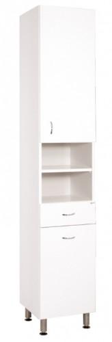 Kúpeľňová skrinka Cara Mia (35x192x33,3 cm, biela, lesk)