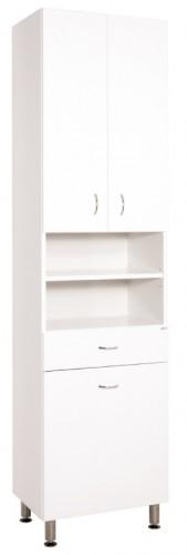Kúpeľňová skrinka Cara Mia (50x192x33,3 cm, biela, lesk)
