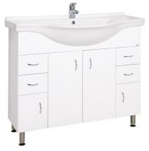Kúpeľňová skrinka s umývadlom Cara Mia (102x85x55cm, biela,lesk)