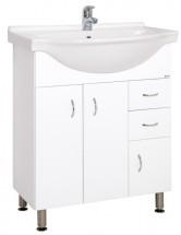 Kúpeľňová skrinka s umývadlom Cara Mia 70,5x85x50,5cm,biela,lesk