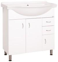 Kúpeľňová skrinka s umývadlom Cara Mia (80x85x50 cm, biela,lesk)