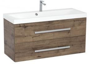 Kúpeľňová skrinka s umývadlom Tiera závesná (100x53x40 cm, dub)