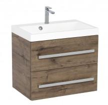 Kúpeľňová skrinka s umývadlom Tiera závesná (60x53x40 cm, dub)