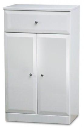 Kúpeľňová skrinka SD 303 voľne stojace (biela, lesk)