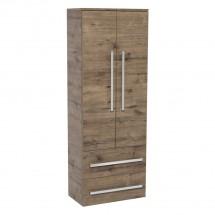 Kúpeľňová skrinka Tiera závesná (60x163x33 cm, dub)