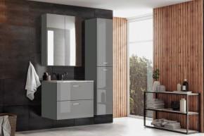 Kúpeľňová zostava Grenya (sivá lesklá)