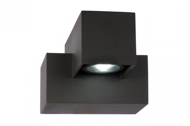 Kwinto - nástenné osvetlenie, 3W, LED (čierna)