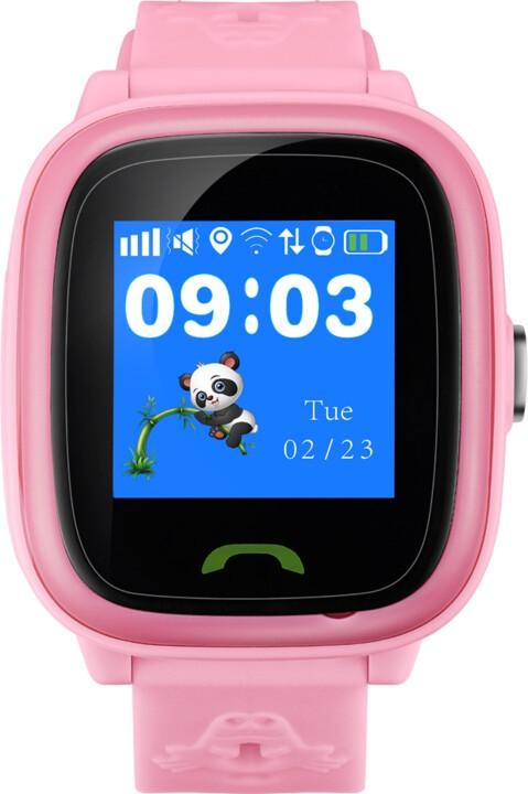 Lacné smart hodinky Detské smart hodinky Canyon Polly Kids, GPS + GSM, ružová