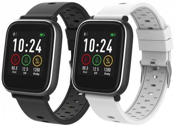 Lacné smart hodinky Smart hodinky iGET Fit F3, 2 remienky, čierna