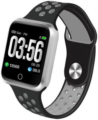 Lacné smart hodinky Smart hodinky Immax SW10, čierna/strieborná