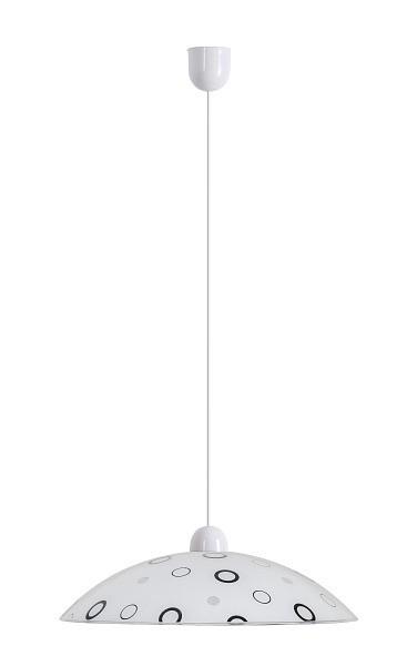 Lady - Stropné osvetlenie, E27 (biela/čierna )