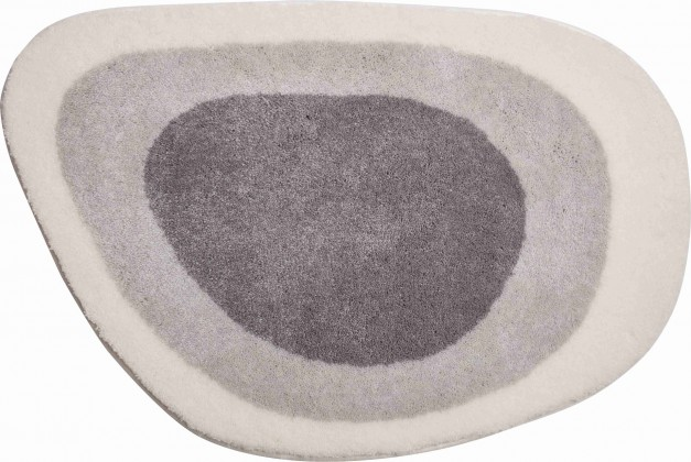 Lake - Kúpeľňová predložka 60x90 cm (sivo-strieborná)