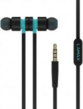 LAMAX Spire1 - čierne slúchadlá do uší s mikrofónom 1.2m