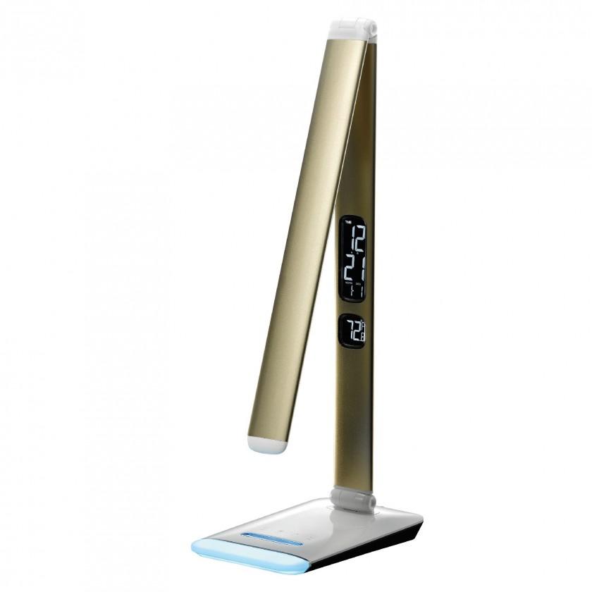 Lampičky Stolná lampička LED RGB M3A, zlatá