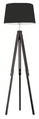 Lampy Lampa Lorenzo wood (čierna, 157 cm)