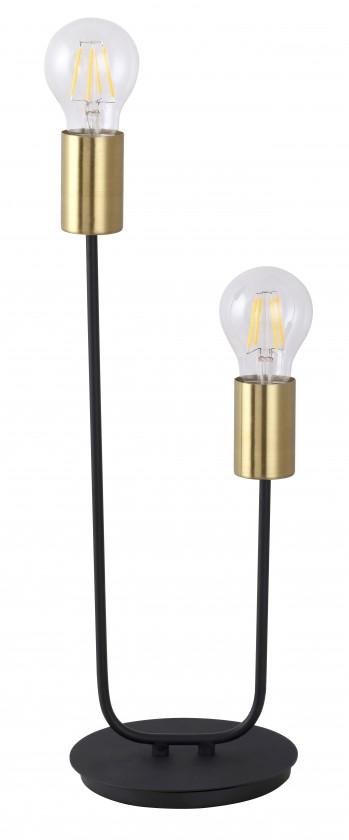 Lampy Stojaca lampa Lens, kovová, 2 zdroje světla, 42cm
