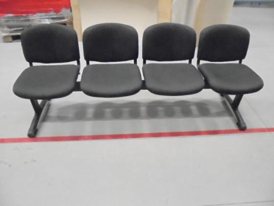Lavica Imperia - 4 sedačka (čierna) - II. akosť