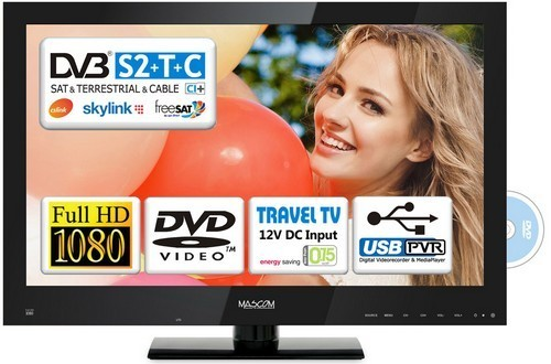 "LED ""24"""" Mascom MC24LFS50DVD ROZBALENO"""