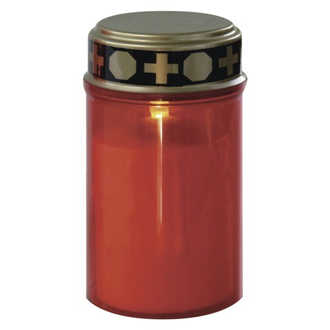 LED náhrobná sviečka Emos ZY2371T, 2× C, časovač, červená