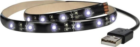 LED pásiky Solight LED pásik pre TV,2x60cm,USB,vypínač,studená biela,WM502