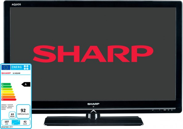 LED  Sharp LC42LE40EV