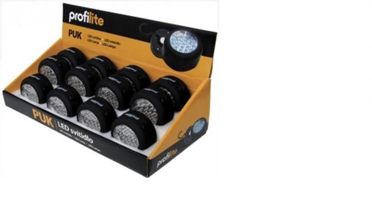 LED svietidlo,kruh-PUK(čierna)