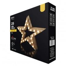 LED vianočné hviezda Emos ZY2199, vnútorné, teplá biela, 37 cm