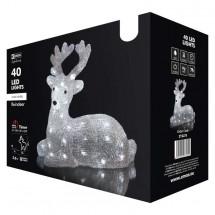 LED vianočné Jelínek Emos ZY2275, vonkajšie, studená biela,31 cm