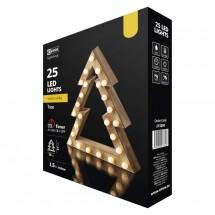 LED vianočný stromček Emos ZY2200, vnútorné, teplá biela, 37 cm