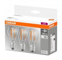 LED žárovka CL A FIL 60 non-dim 7W/840 E27 3ks