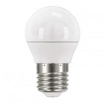 LED žiarovka Emos ZQ1120, E27, 6W, guľatá, číra, teplá biela