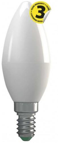 LED žiarovka Emos ZQ3210, E14, 4W, sviečka, číra, teplá biela