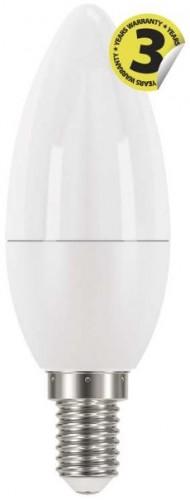 LED žiarovka Emos ZQ3220, E14, 6W, sviečka, číra, teplá biela
