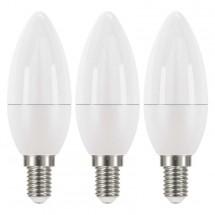 LED žiarovka Emos ZQ32213, E14, 6W, sviečka, neutrálna biela,3ks