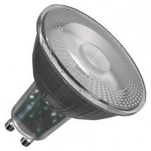 LED žiarovka Emos ZQ8333, GU10, 4,2W, číra, teplá biela