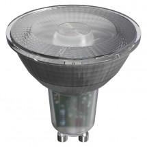 LED žiarovka Emos ZQ8335, GU10, 4,2W, číra, studená biela