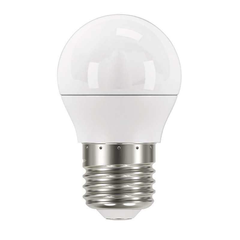 LED žiarovka LED žiarovka Emos ZQ1120, E27, 6W, guľatá, číra, teplá biela