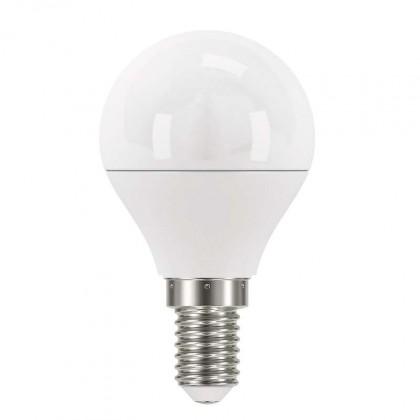 LED žiarovka LED žiarovka Emos ZQ1221, E14, 6W, guľatá, číra, neutrálna biela