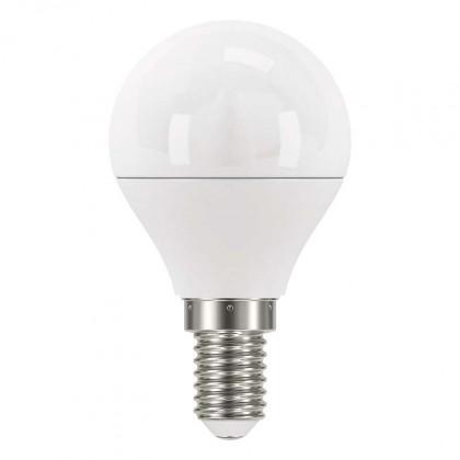 LED žiarovka LED žiarovka Emos ZQ1222, E14, 6W, guľatá, číra, studená biela