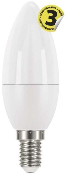 LED žiarovka LED žiarovka Emos ZQ3220, E14, 6W, sviečka, číra, teplá biela