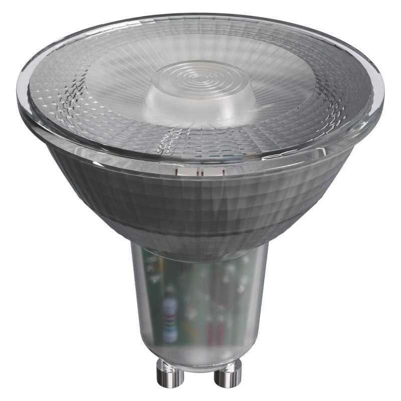 LED žiarovka LED žiarovka Emos ZQ8335, GU10, 4,2W, číra, studená biela