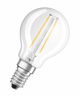 LED žiarovka LED žiarovka Osram STAR, E14, 4W, guľatá, teplá biela