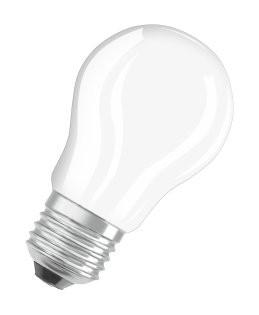 LED žiarovka LED žiarovka Osram STAR, E27, 4W, guľatá, číra, teplá biela